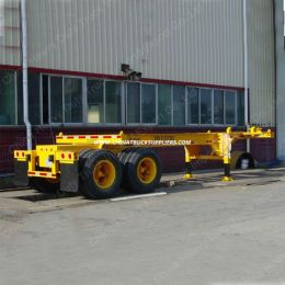 3 Axle 40FT Flat Bed Skeleton Semi Trailer Truck