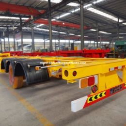 3 Axles 40FT Container Skeleton Semitrailer for Exporting