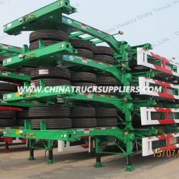 Hot Sale 40FT, 20FT 2axle Flatbed Semi Trailer/Container Flatb