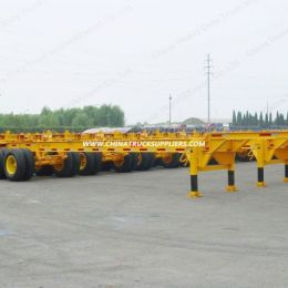 Factory 40FT 20FT Container Skeleton Flatbed Semi Trailer