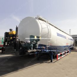 Tri-Axle 60cbm Wheat Flour Bulk Powder / Bulk Cement Tanker Semi Trailer