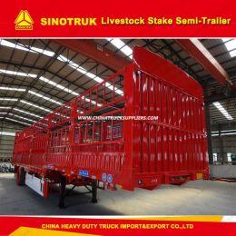 3 Axle 60 Ton Horse Trailer Stake/Fence Truck Semi Trailer