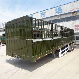 3 Alxe 80 Ton Gooseneck Stake Utility Truck Trailer Container Truck Semi Ttrailer