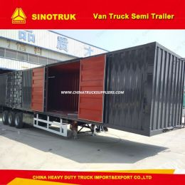 3 Axel 40 Tons Box Trailer/Cargo/Van Truck Semi Trailer