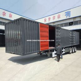 50ton 3axel Cargo Truck Semi Trailer Van Box Semi Trailer