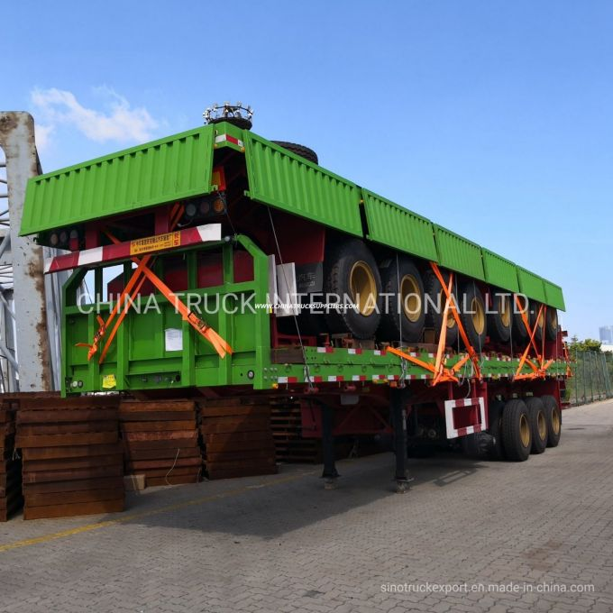 Heavy Truck Trailer 40foot 3 Axle Cargo Utility Container Sidewall Semi Truck Trailer