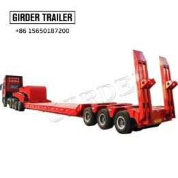hydraulic low bed  trailer