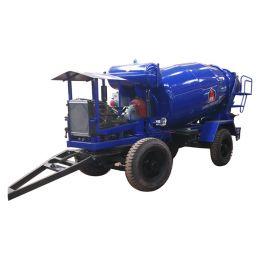 cost performance 4x2 full 4m3 concrete mixer trailer