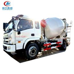 Yuejin 6 cubic beton mixer truck 6m3 4X2 mixer truck