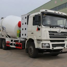 Shacman F3000 CNG LNG 10m3 Concrete Mixer Truck Export to Uzbekistan