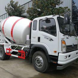 HOWO Light 4X2 Type 3 Cubic Concrete Mixer Truck