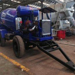 3m3 4m3 5m3 6m3 Trailer Mounted Concrete Mixer Semi Trailer for Sale with Engin