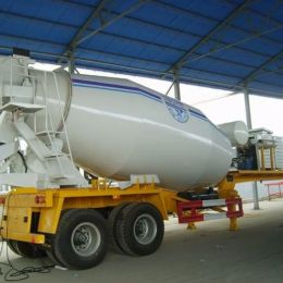 Heavy Duty 3 Axle 16cubic Meter Concrete Mixer Truck Trailer