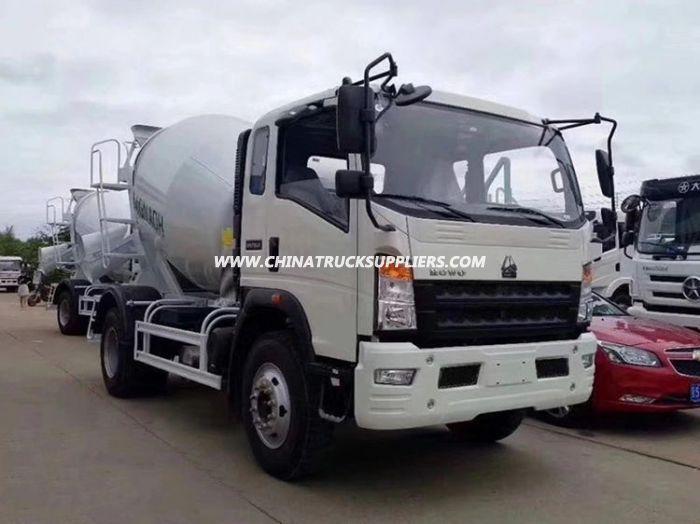 HOWO Euro3 130HP 4cbm Concrete Cement Drum Mixer Truck